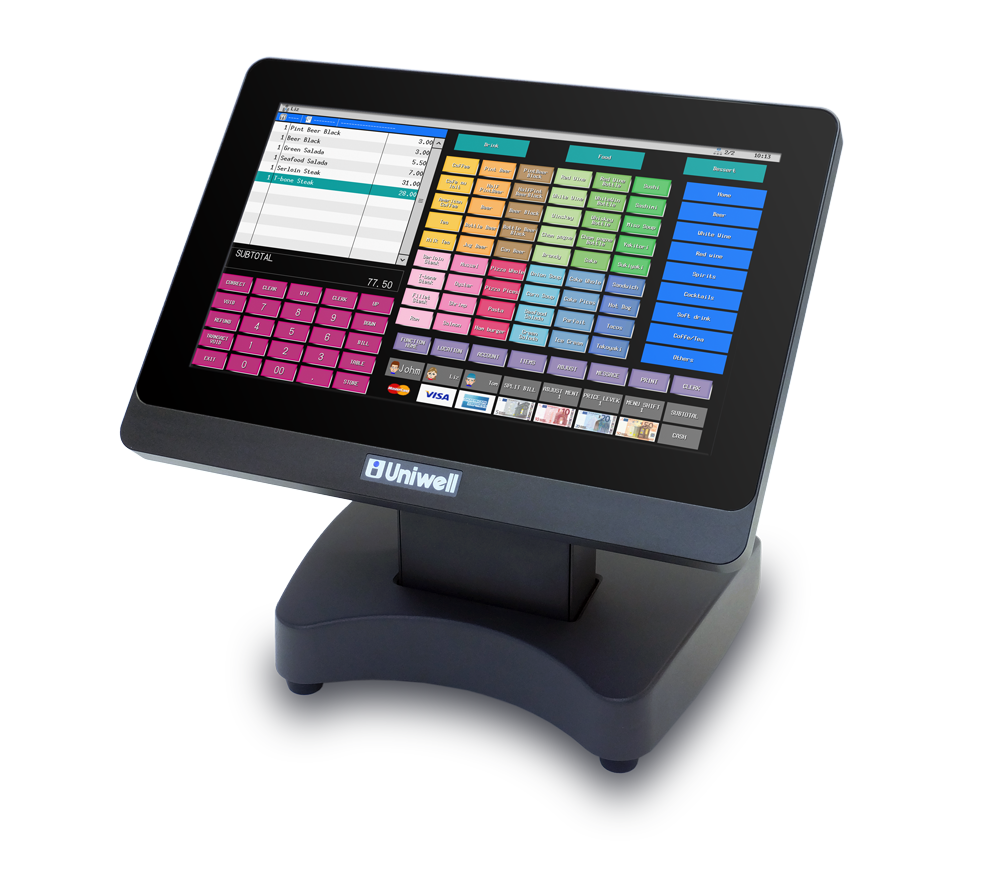 Uniwell HX-3500 compact touchscreen point of sale terminal #uniquelyuniwell #pointofsale for bakery cafe patisserie boulangerie